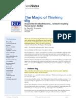The Magic of Thinking Big Summary