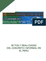 Enrique Pasquel Mitos y Realidades Del Concreto Informal Peru