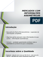 Aula 05 - Mercados Com Informações Assimétricas - Acadêmicos