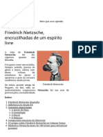 Friedrich Nietzsche, Encruzilhadas de Um Espírito Livre – Colunas Tortas