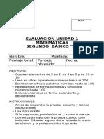 Evaluación Unidad 1 Mate
