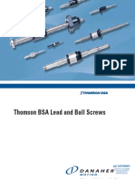 Thomson BSA Lead Ball Screws Catalog