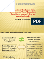Allowable Deductions - Personal Exemptions