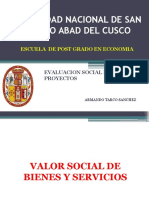 Clase 2. Valor Social de Bienes y Servicios