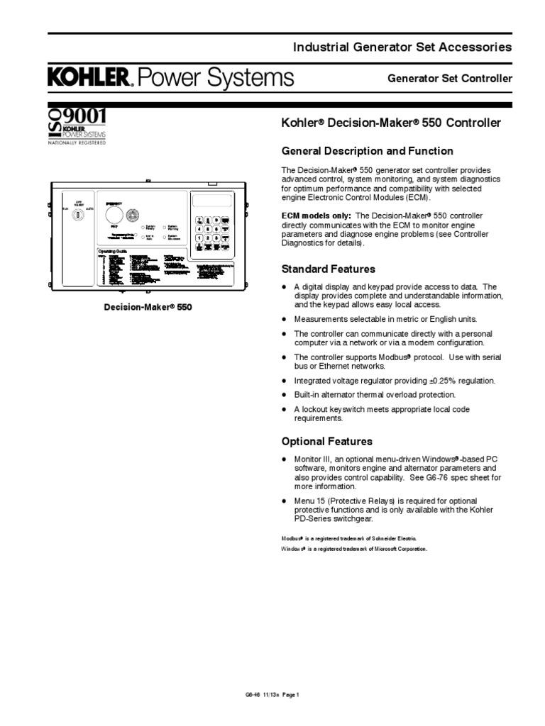 Decision Maker 550