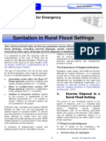 Sanitation in rural flood settings