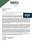 Texas Watch Written Testimony Against HB 3430