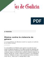 Música Contra La Violencia de Género
