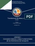 Transferencia de Masa y Calor Unidad I -2017