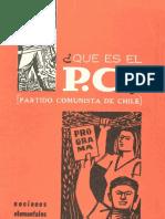 Partido Comunista (1962) ¿Qué es el P. C. nociones elementales. Folleto.pdf