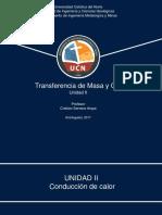 Transferencia de Masa y Calor Unidad II -2017