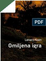 Leonard Cohen - Omiljena Igra