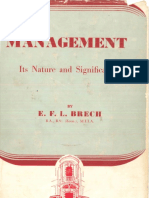 Brech 1953 Management Its Nature and Significance