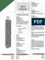 Manual Bocina Bluetooth Mitzu Green Leaf 18-9426BL
