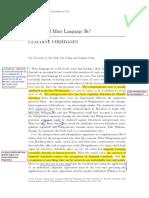 Verheggen, Claudine- How Social Must Language Be