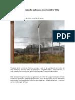 Caída de Rayo Incendió Subestación de Metro Villa Alemana