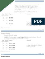Prova Objetiva de Matemática Financeira Nota 100