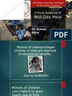 Mid day meal concept and cases