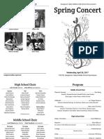 Spring Choir Concert Program Revised