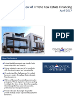 Private Real Estate Financing Overview