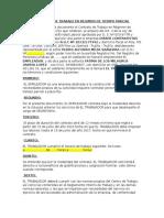 Contrato de Trabajo en Regimen de Tiempo Parcial 1