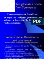 Introduction Générale à l'Étude Du Droit Commercial