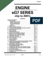Mitsubishi Pajero Engine 6G7 Series to 2001