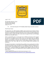 Letter to Governor Cuomo on Taxis