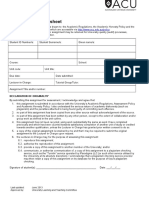 Assignment Cover Sheet university