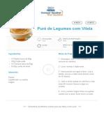 Puré de Legumes Com Vitela _ Clube Bebé Nestlé