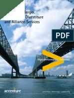 Accenture Merger Acquisition Divestitureand Alliance Services