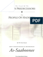 The Creed of the Pious Predecessors (1999) by as-Saaboonee