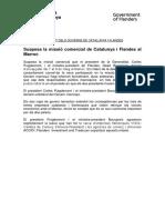 Comunicado de la Generalitat y el Gobierno de Flandes sobre el plantón de Marruecos a su visita