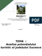 Prezentare Analiza Potențialului Turistc a Județului Suceava