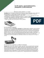 Exemple de PH Metre Spectrofotometre Cromatografe Si Electroforeze Utilizate in Laboratoare Medicale