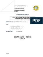 Informe de Cristalizacion