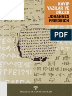 Johannes Friedrich - Kayıp Yazılar ve Diller.pdf