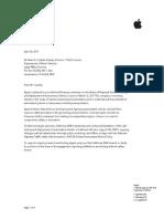 Apple DMV Letter