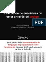 Evaluación de enseñanza de color a través de código