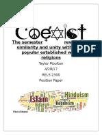 religion position paper