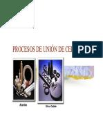 Procesos de Union Para Materiales Ceramicos y Compuestos