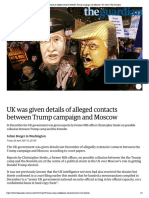 UK Was Given Details of Alleged Contacts Between Trump Campaign and Moscow _ US News _ the Guardian