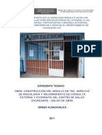 EXPEDIENTE TECNICO DE UN CENTRO DE SALUD