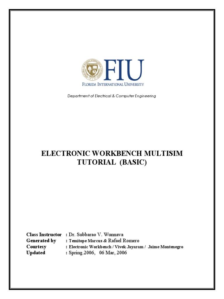 Multisim Tutorial Amplifier Electronic Circuits Simulation Of Circuit Design