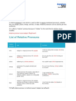 Extra - Relative Pronouns
