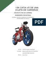 Diseno en Catia v5 de Una Moto de Competicion