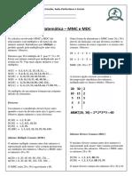 Matemática - MMC e MDC