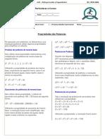 Matemática - Propriedades Das Potencias