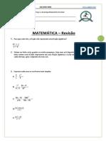 Matemática - Revisão - 8 Ano