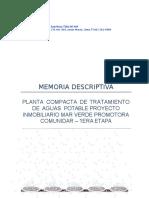 Memoria Descriptiva PTAP CAMPOSOL